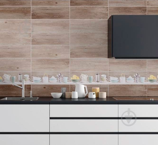 Плитка Cersanit Форест Соул инсерто кухня В декор 20x60 - фото 4