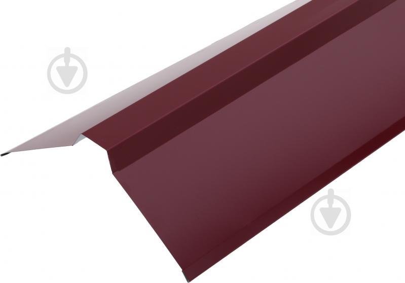 Планка конька глянцева Європрофіль RAL 3005 бордова - фото 1