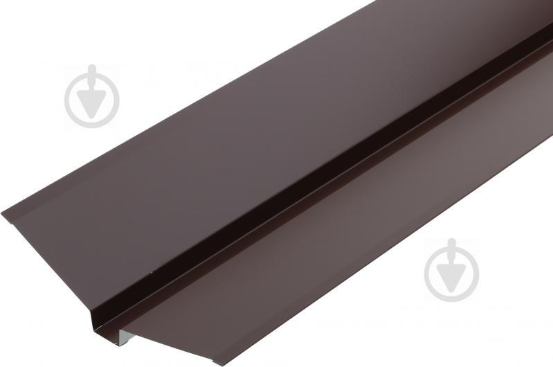 Планка ендови декоративна глянсова Європрофіль RAL 8017 коричнева