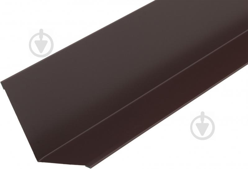 Планка стику глянцева Європрофіль RAL 8017 коричнева