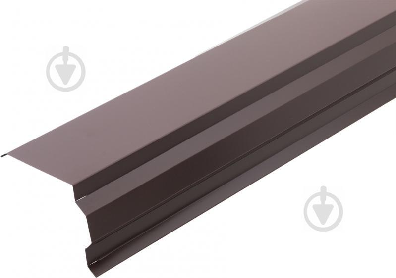 Планка торцева глянцева Європрофіль RAL 8017 коричнева