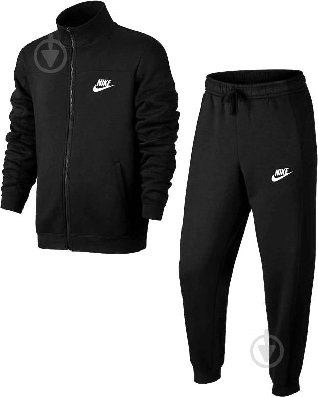 Костюм Nike M NSW TRK SUIT FLC 861776-010 р. L черный - фото 1