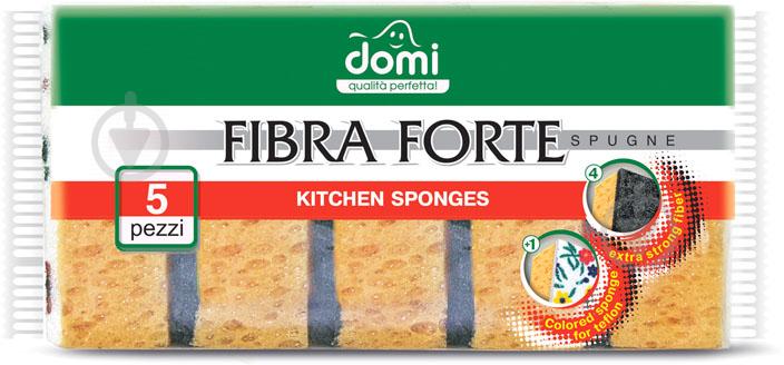 Губка для мытья посуды Domi 5 шт. - фото 1