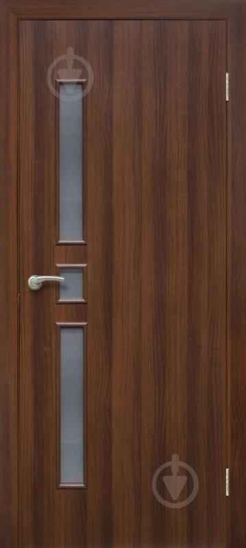 Дверне полотно ПВХ ОМіС Комфорт ЗС 800 мм горіх - фото 1