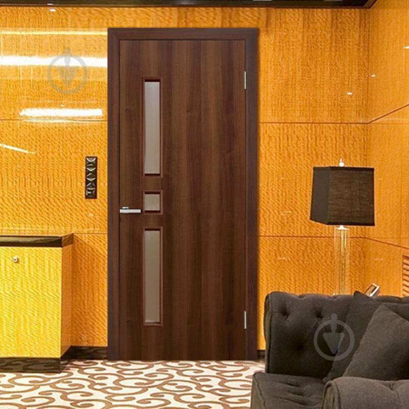 Дверне полотно ПВХ ОМіС Комфорт ЗС 800 мм горіх - фото 2