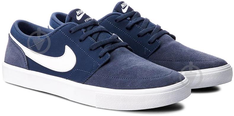Кроссовки Nike SB PORTMORE II SOLAR 880266-410 р. 10 синий - фото 1