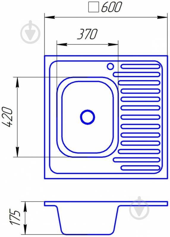 Мойка для кухни Z6636r - фото 2