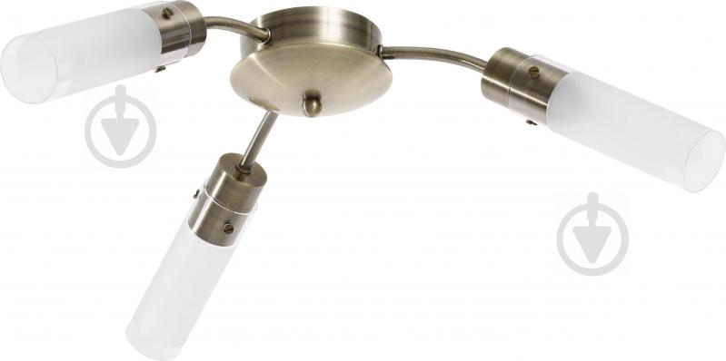 Люстра стельова Accento lighting Sakura 3x40 Вт E14 антична латунь ALHL-6310/3-AB - фото 1