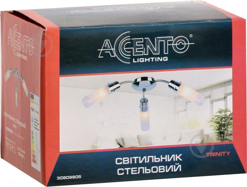 Люстра стельова Accento lighting Sakura 3x40 Вт E14 антична латунь ALHL-6310/3-AB - фото 3