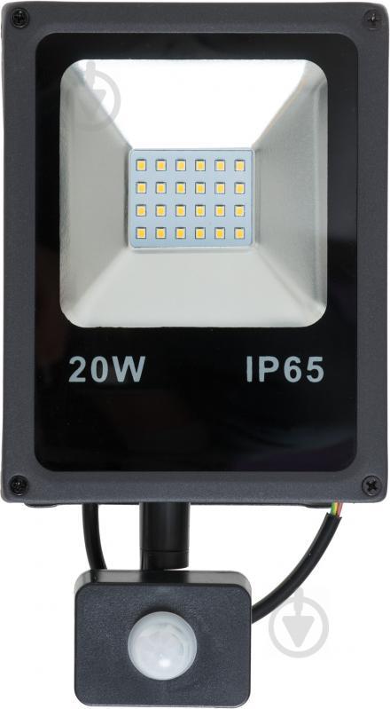 Прожектор DDH 20S 20 Вт IP65 чорний 17320 - фото 1