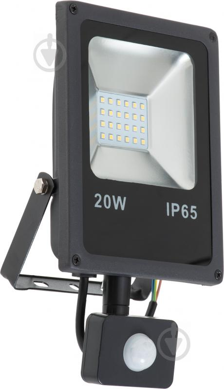 Прожектор DDH 20S 20 Вт IP65 чорний 17320 - фото 2