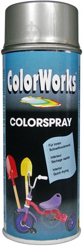 Емаль аерозольна RAL 9006 ColorWorks срібний 400 мл - фото 1