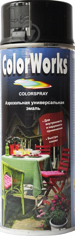 Емаль аерозольна RAL 9005 ColorWorks чорний матовий 400 мл - фото 1