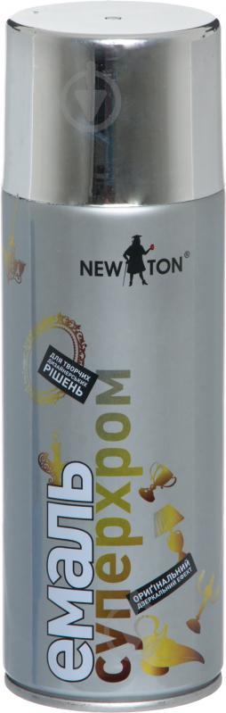 Эмаль аэрозольная Суперхром New Ton серебрянный 400 мл - фото 1