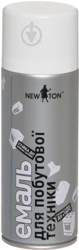 Эмаль аэрозольная для бытовой техники New Ton белый глянец 400 мл - фото 1