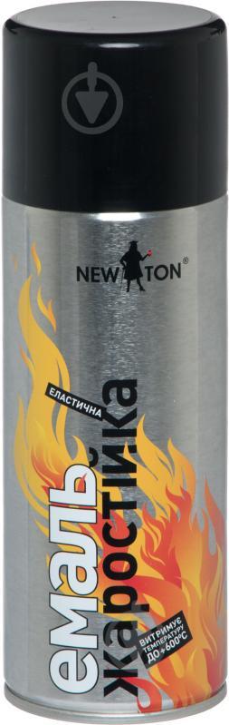 Емаль New Ton аерозольна жаростійка до 600 °С чорний глянець 400 мл - фото 1