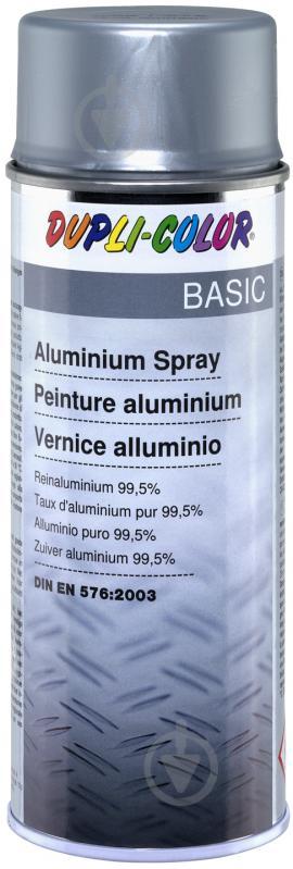 Емаль аерозольна Dupli-Color Basic алюміній мат 400 мл - фото 1