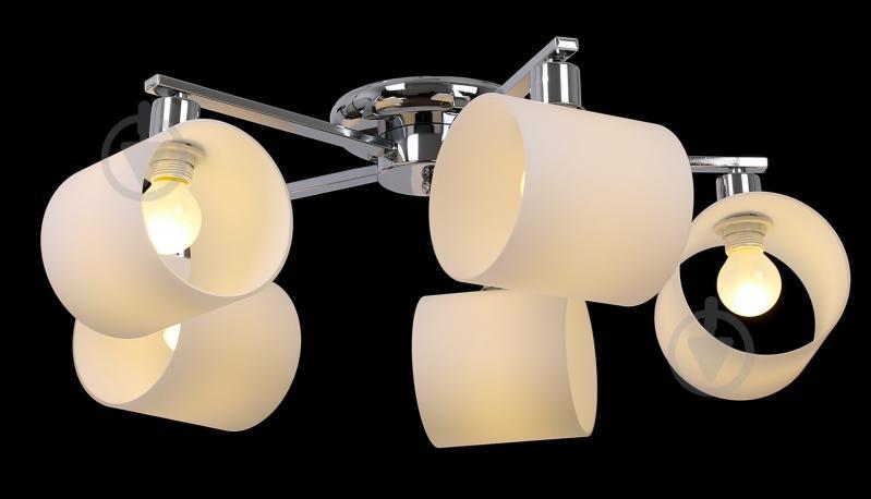 Світильник стельовий Accento lighting ALKK-GH96360-5 5x40 Вт E14 хром - фото 3