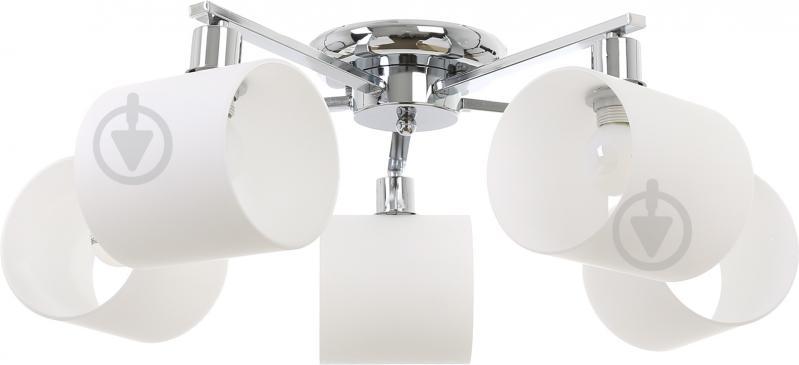 Світильник стельовий Accento lighting ALKK-GH96360-5 5x40 Вт E14 хром - фото 1