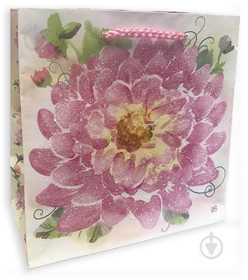 Пакет бумажный Нежный цветок 16x16x8 см