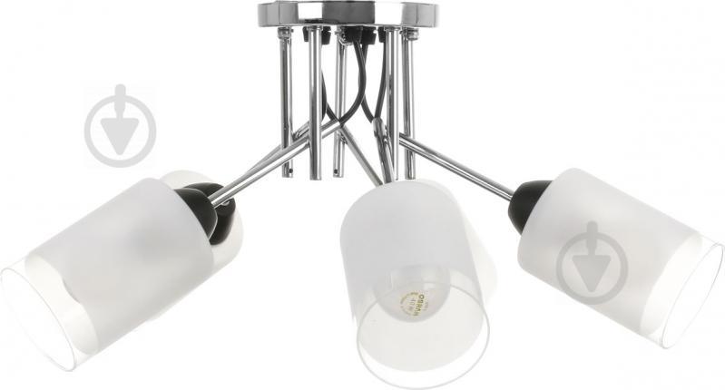 Світильник стельовий Accento lighting ALKK-GH35212-5 5x60 Вт E27 хром - фото 2