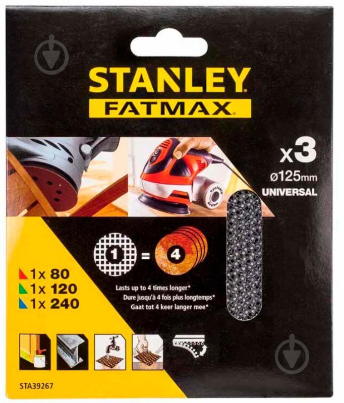 Сетка абразивная Stanley STA39267 125 мм - фото 1