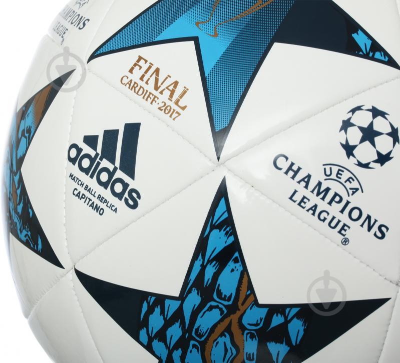 Футбольний м'яч Adidas FINALE CARDIFF CAPITANO р. 5 AZ5204 - фото 2