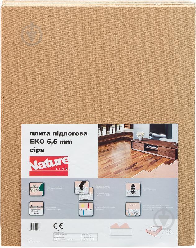 Плита підлогова підкладкова Steico ЕКО Nature Line 5,5x790x590 мм
