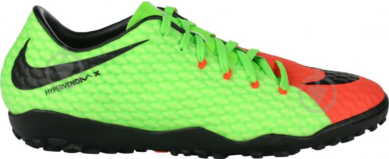 Футбольные бутсы Nike HypervenomX Phelon III TF 852562-308 р. 9.5 зеленый - фото 1