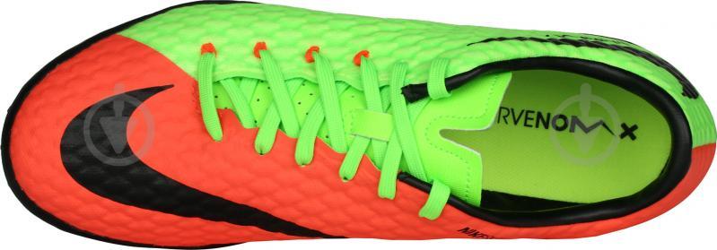 Футбольные бутсы Nike HypervenomX Phelon III TF 852562-308 р. 9.5 зеленый - фото 5
