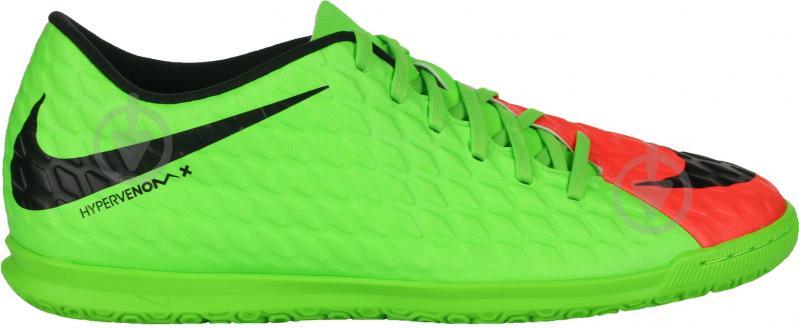Футбольные бутсы   Nike  HYPERVENOMX PHADE 3 IC 852543-308   р. 42  зеленый - фото 1