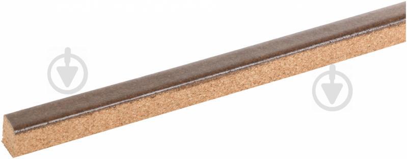 Компенсатор для пола пробковый Corksill гибкий 9,5х15x900 мм орех