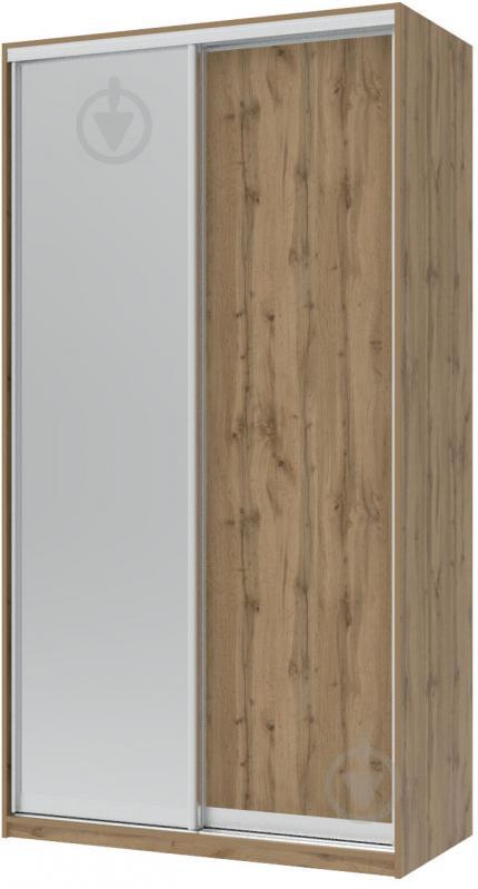 Шкаф-купе Doros 1200x600x2250 мм дуб тахо двери / ДСП/зеркало