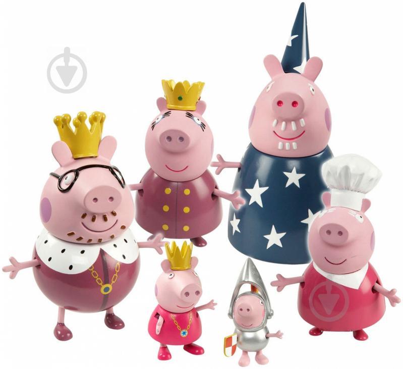 Набор Peppa Pig серияПринцессаКоролевская семья6шт 28875 - фото 1