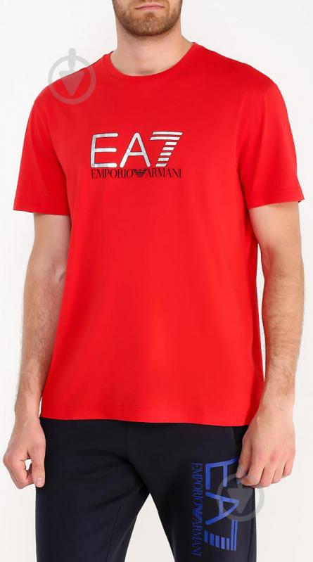 Футболка EA7 6YPT56-PJ30Z-1451 6YPT56-PJ30Z-1451 L красный - фото 2