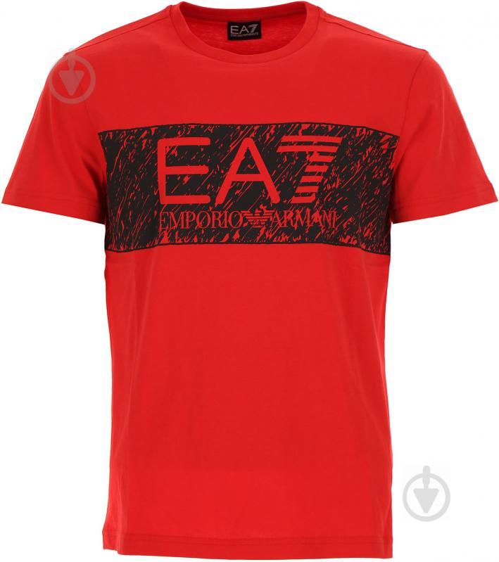Футболка EA7 6YPT82-PJ02Z-1451 6YPT82-PJ02Z-1451 M красный - фото 1