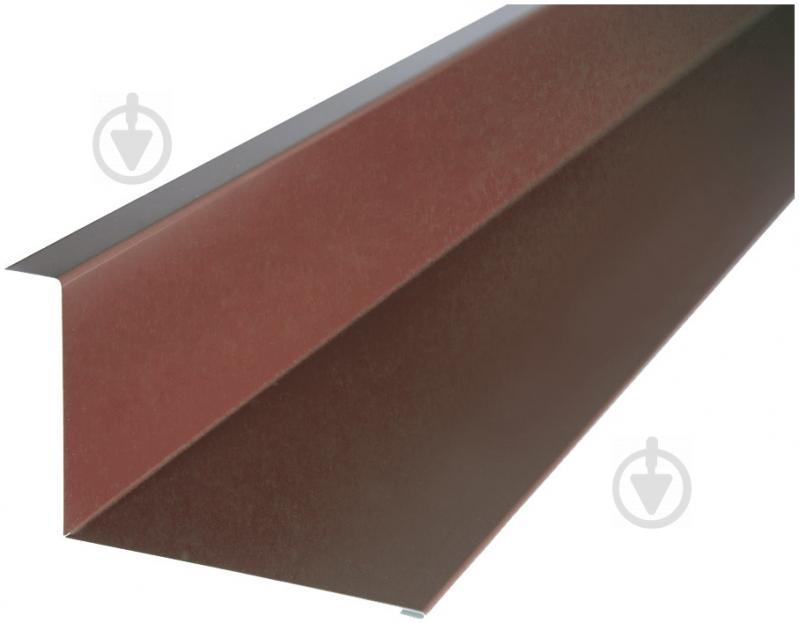 Планка стику глянцева PSM RAL 8017 коричнева 2м