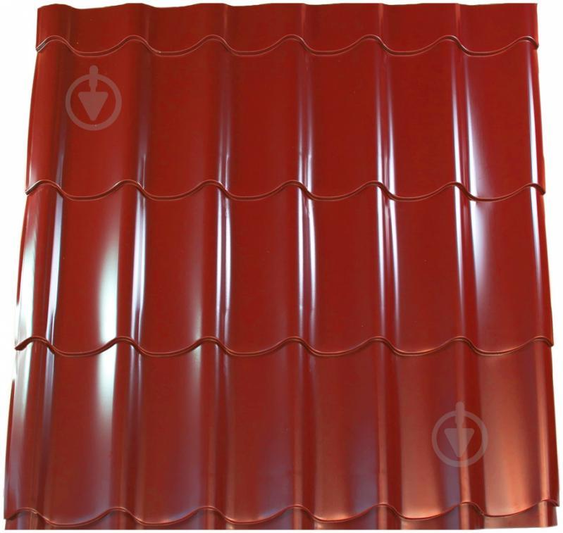 Металочерепиця PSM 1180x1200 мм RAL 3011 червона - фото 1