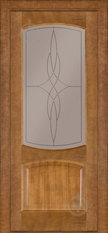 Дверне полотно Terminus №05 ЗС+КМ 700 мм дуб темний - фото 1