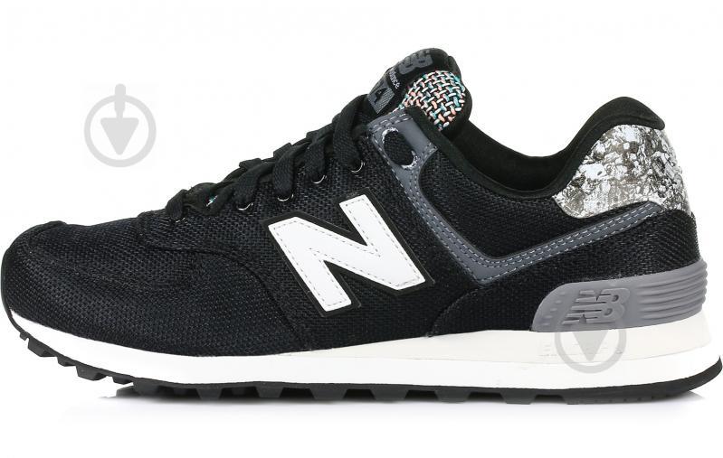 Кроссовки New Balance 574 WL574ASB р. 8 черный - фото 1