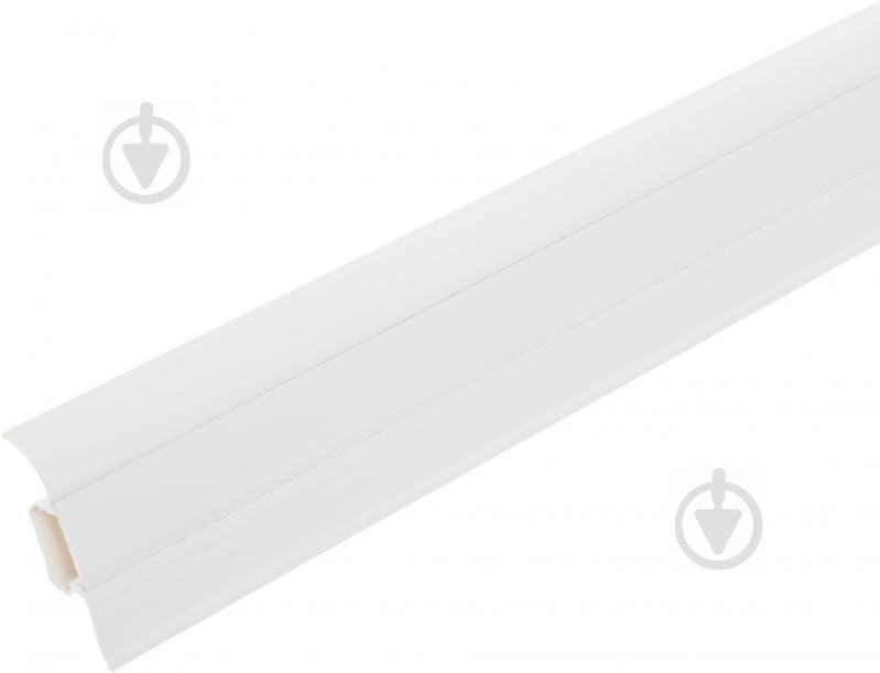 Плінтус ПВХ TIS білий 18х56х2500 мм - фото 1