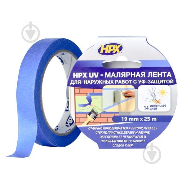 Стрічка малярна HPX 25 м х 19 мм синя - фото 1