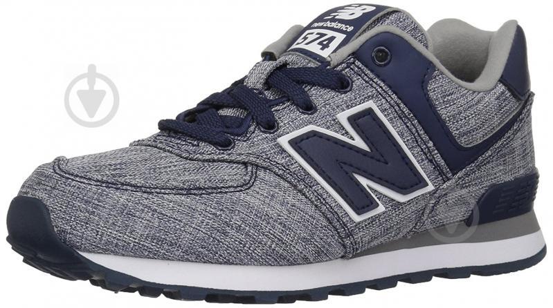 Кроссовки New Balance 574 KL574V7G р. 5.5 серый с синим - фото 2