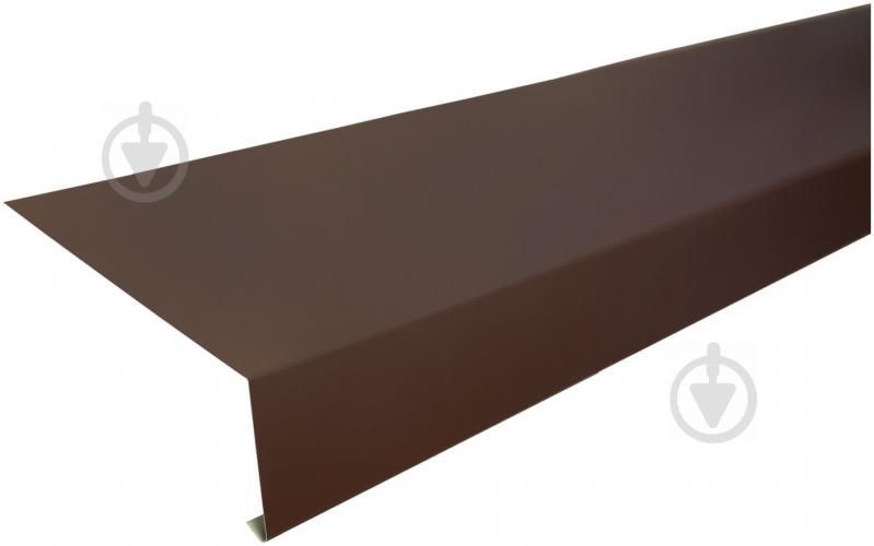 Капельник глянцевый PSM RAL 8017 коричневый 2м - фото 1
