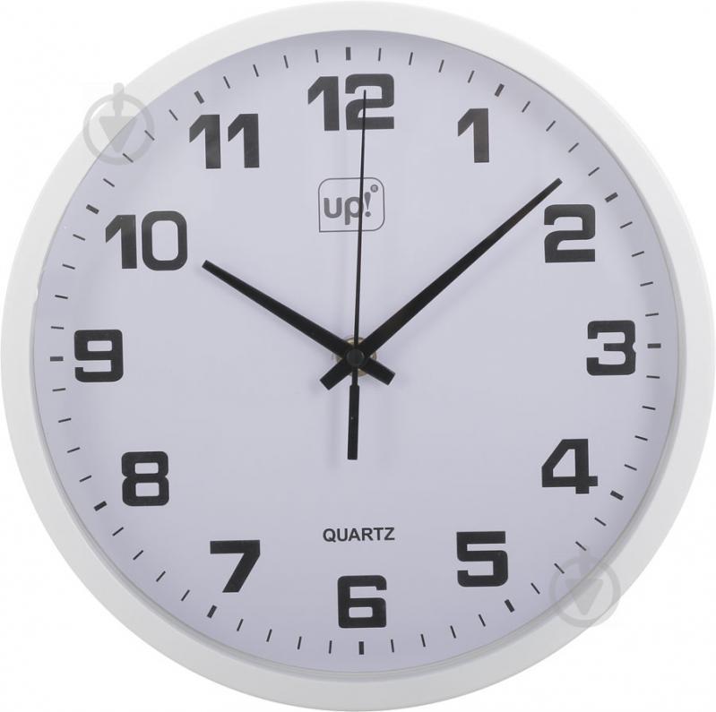 Годинник настінний білий 25 см UP! (Underprice) - фото 1