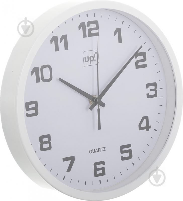 Годинник настінний білий 25 см UP! (Underprice) - фото 2