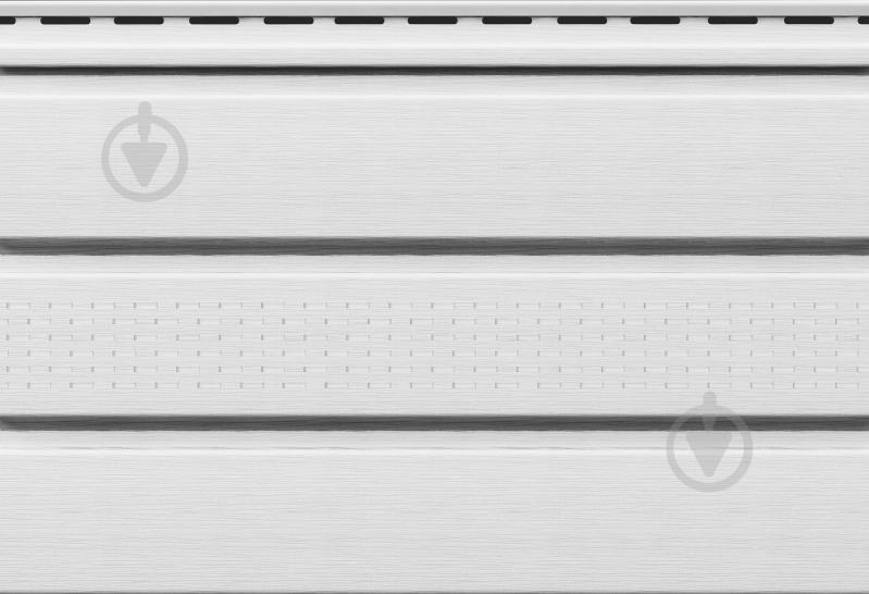 Панель-софіт VOX перфорована 3х0,3 м 0,9 кв.м білий SV-07 - фото 1
