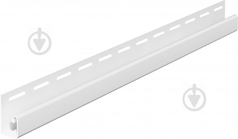 Профиль J-образный VOX 3,05 м белый SV-15 - фото 1