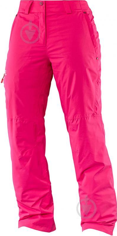 Брюки Salomon L39116500 Strike р.M розовый - фото 1