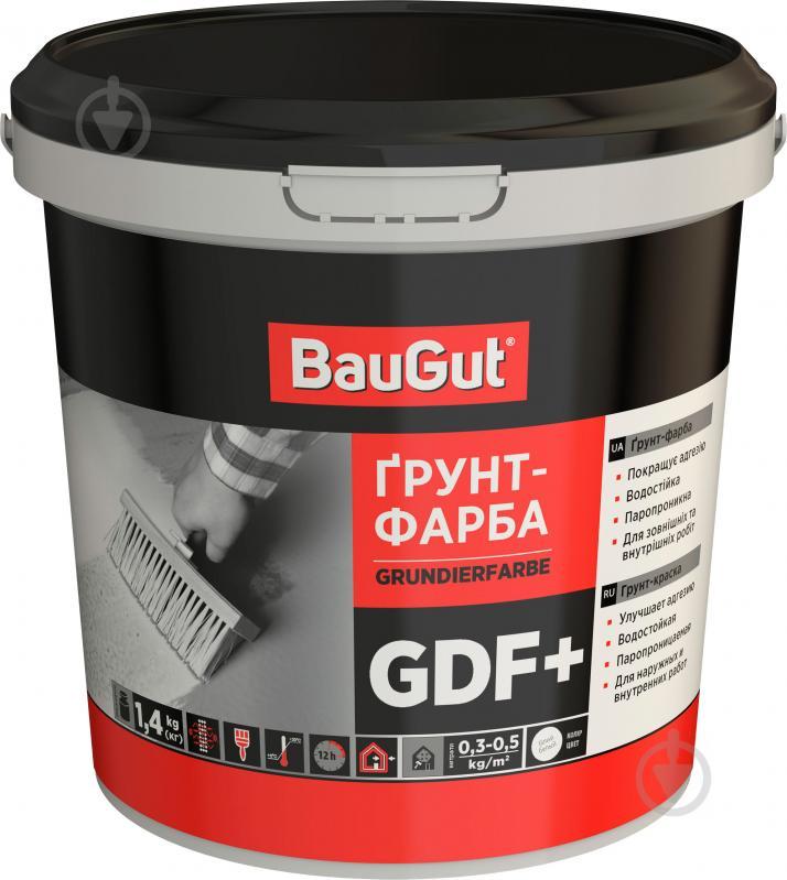 Грунтовочная краска адгезионная BauGut GDF+ 1 л - фото 1